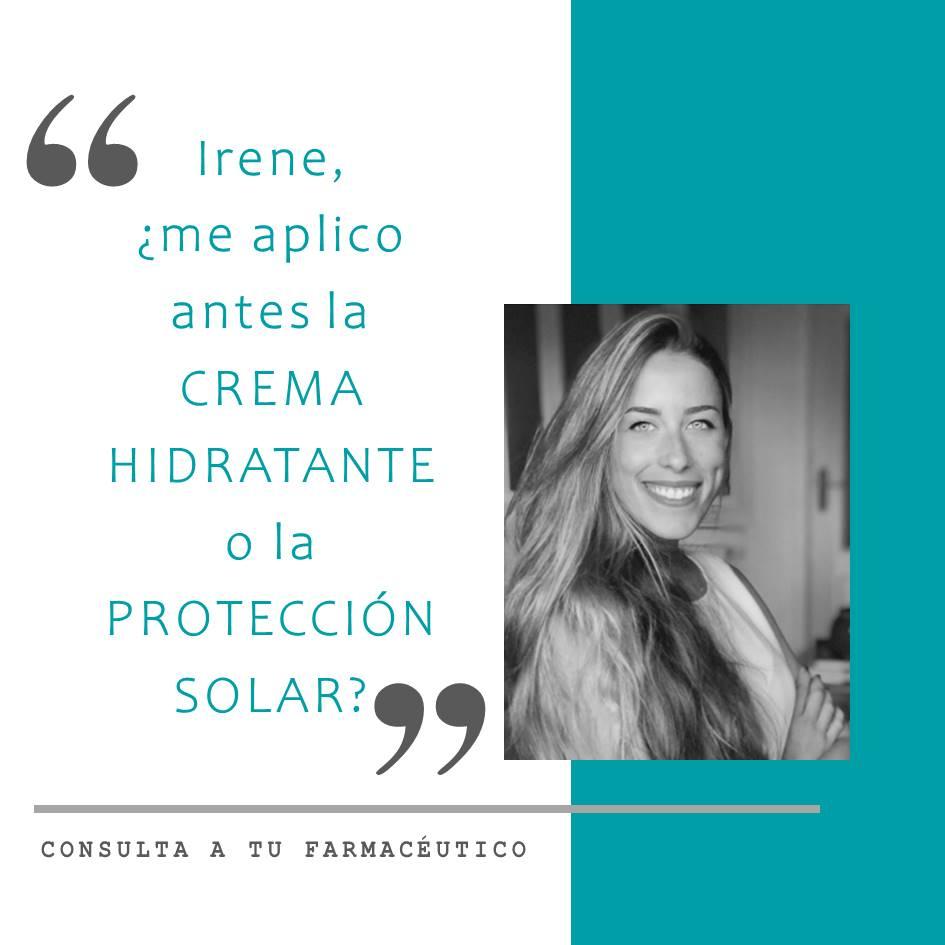 ¿Qué se aplica antes la crema hidratante o la protección solar?